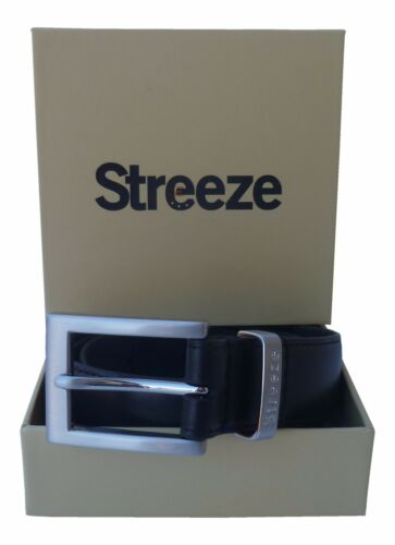 """1.2/"""" Real Leather Formal Suit Belt Sizes Black and Brown Streeze Mens 28mm"""