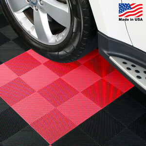 Garage Tiles | Drain Tiles Red - Made In the USA