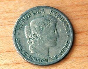1921 Peru 10 Centavos
