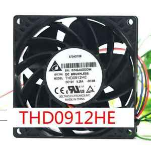 1pc-Delta-THD0912HE-cooling-fan-90-38mm-12V-5-28A-4pin