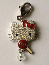 Swarovski HELLO KITTY Candy Lolly Pop Crystal Charm Pendant 1124970 $65 MSRP