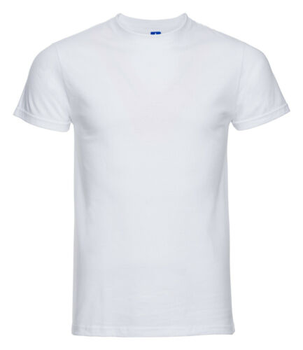Russell 155m Herren Schlicht Enge Passform Tailliert Baumwolle T-Shirt T-Shirt