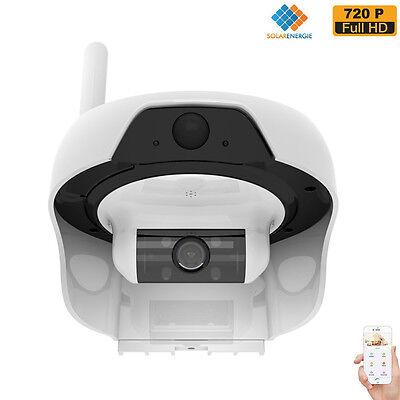 FREECAM Solar Powered Wireless WiFi Camera 720P Waterproof IP Network Web Cam