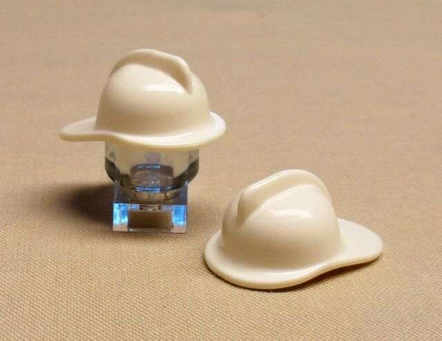 x20 NEW Lego Firemen Helmet City Town Minifig Headgear White Hat