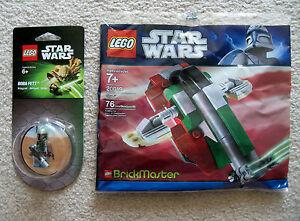 LEGO-Star-Wars-Brickmaster-Boba-Fett-Slave-I-20019-amp-Magnet-Set-850643-New