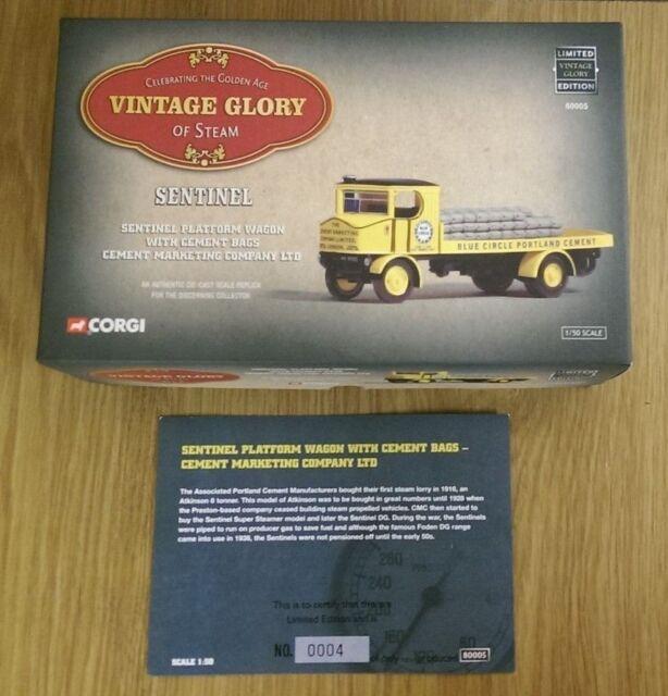 Corgi 80005 Sentinel Platform Wagon & Cement Bags CMC Ltd No 0004/5520