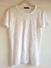 Dolce & Gabbana White Lace Top Shirt Size 42 4-6 S NWOT
