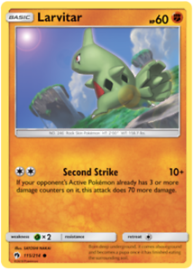 Larvitar 115/214 Lost Thunder Pokemon Card | New | x2 ...