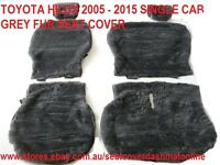 Grey Fur Seat Cover ( Artificial Sheepskin Seat Cover ) Fit Toyota Hilux 05-14