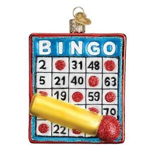 Old-World-Christmas-BINGO-44137-X-Glass-Ornament-w-OWC-Box