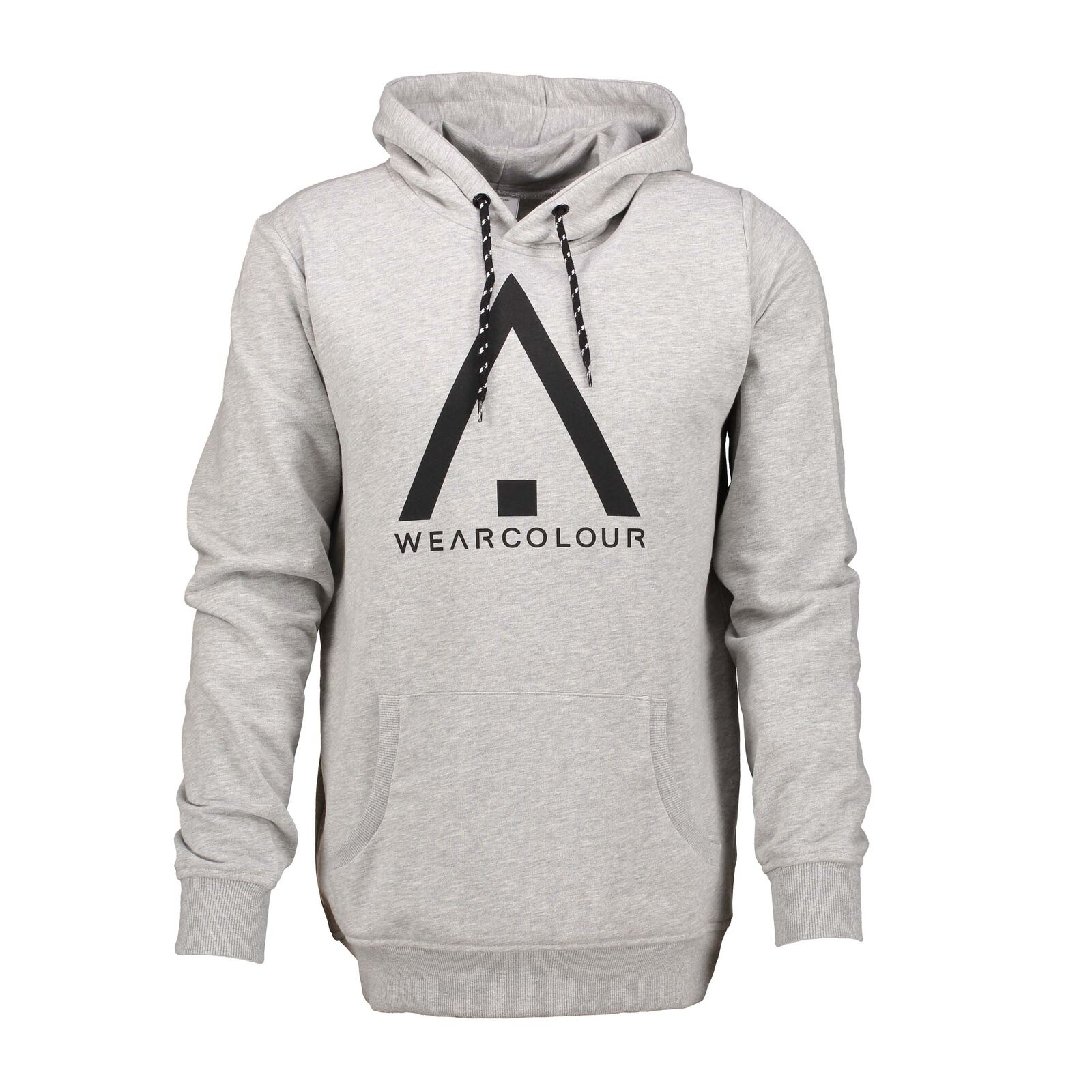 Wear Colour Mens Wear Hood Hoodie Grey Melange
