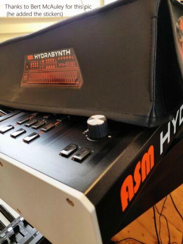 ASM Hydrasynth Synthesizer Synth Dust cover in black vinyl keyboard version