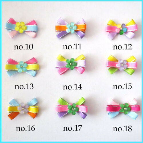 "50 BLESSING Good Girl 2.5/"" Flower Hair Bow Clip Baby Accessories Wholesale"