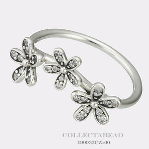 34e07d45a Image is loading Authentic-Pandora-Sterling-Silver-Dazzling-Daisies-CZ-Ring-