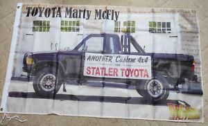 Drapeau Flag Bannière, Toyota Statler Marty McFly, neuf