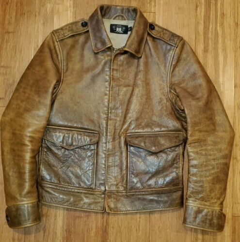 RRL Bomber/Motorcycle Leather Jacket. Size Small.