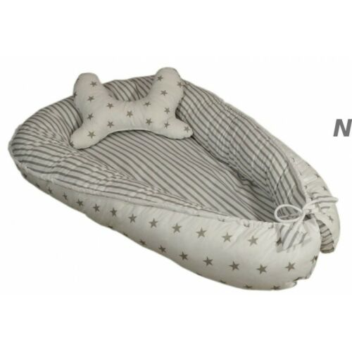 Babynestchen 2-seitig-Babynest Kuschelnest Kokon für Baby Babykokon Liegekissen