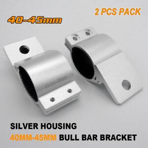 2X-40-45mm-BULLBAR-NUDGE-BAR-MOUNTING-BRACKET-1-6-034-CLAMP-LED-LIGHT-BAR-Antenna
