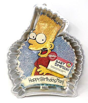 Astounding New 1990 Wilton Bart Simpson Simpsons Birthday Party Cake Pan Mold Personalised Birthday Cards Veneteletsinfo