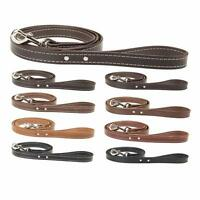 Leather Dog Leash_pet Lead_accent Stitched_amish Handmade_4' Long X 1 Wide