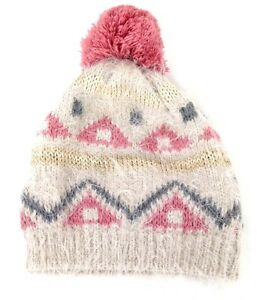 Image is loading ZARA-Girls-Kids-PEACH-GOLD-Knitted-Winter-Beanie- 8743912ca12
