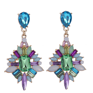 Fashion-Women-Colorful-Rhinestone-Resin-Ear-Stud-Drop-Dangle-Earrings-Jewelry