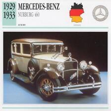 1929-1933 MERCEDES BENZ NURBURG 460 Classic Car Photograph / Info Maxi Card