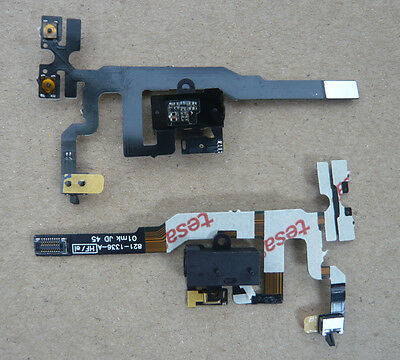 Black Headphone Audio Jack Volume Flex Cable Replacement Parts For iPhone 4S