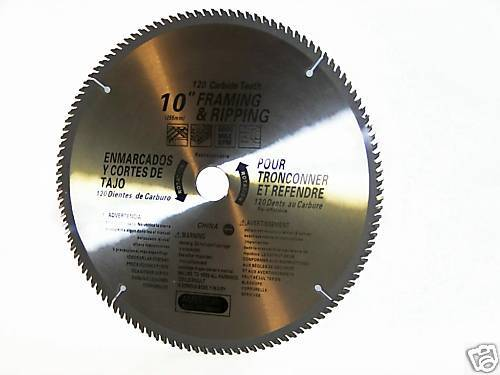 "4 pcs 10/"" saw blades 120th carbide teeth Miter Saw Table Saw Wood Cutting Disc"