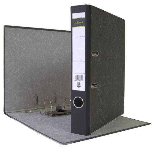 9 x Akten-Ordner A4 50 mm Schwarz Wolkenmarmor Archiv Büroordner Ringordner