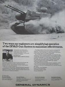1/1980 Pub General Dynamics Pomona Divad Gun System Us Army Defense Aerienne Ad 9chu6j73-07221222-565636418