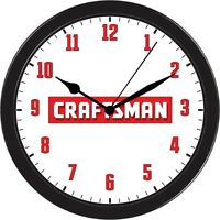 Sears Suburban Craftsman Garden Tractor Mower Wall Clock Black Art Gift Part