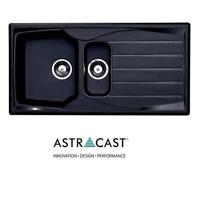 Astracast Sierra 1.5 Bowl Plastic Reversible Black Kitchen Sink Inc Waste
