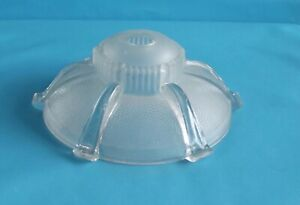 Ancien-Abat-Jour-Art-Deco-Soucoupe-verre-volumineux-plafonnier-suspension-lustre