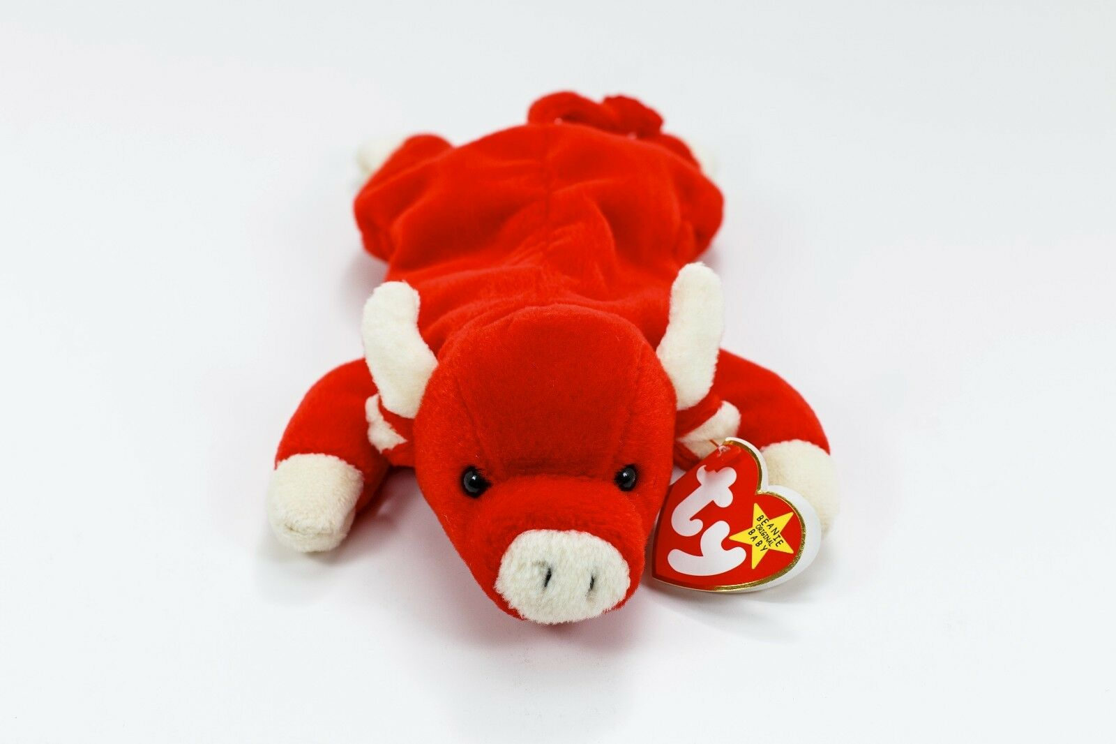 TY Beanie Baby Snort The Bull, 1995 Retired, Rare Tag Errors, Mint Condition
