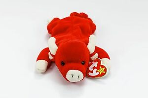 1d572931c53 Image is loading TY-Beanie-Baby-Snort-The-Bull-1995-Retired-