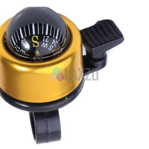 Vélo route de montagne Guidon Boussole Simple Ping Bell Horn Gold