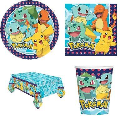 Ragazzi Ragazze Pokemon Pikachu Completo 33 Pezzi Festa Di Compleanno Stoviglie Set-mostra Il Titolo Originale