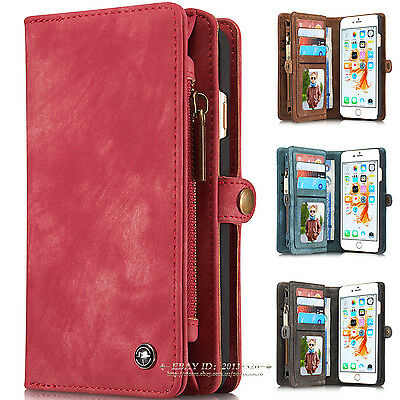 Luxury Leather Magnetic Wallet Card Flip Case Cover For Apple iPhone 6 6s 7 Plus