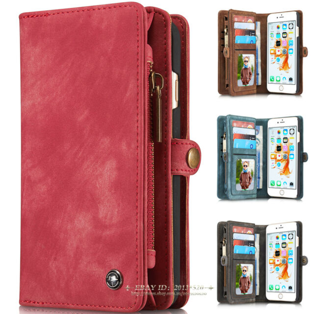 Luxury Leather Magnetic Wallet Card Flip Case Cover For Apple iPhone X 6s 7 Plus