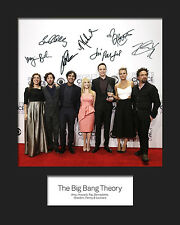 THE BIG BANG THEORY #2 10x8 Mounted Signed Photo Print (Reprint) - FREE DELIVERY
