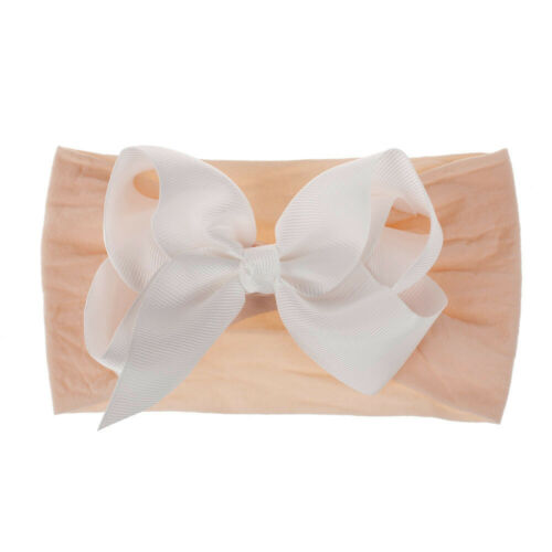 Girls Kids Baby Soft Bow Hairband Headband Sweet Turban Knot Head Wrap Cute Bow