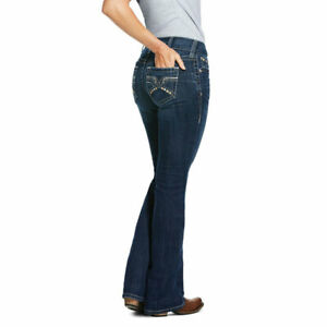Ariat Mujer 10030286 R E A L Firebird Jeans Bootcut Mediados De Subida Pacific Nuevo Ebay
