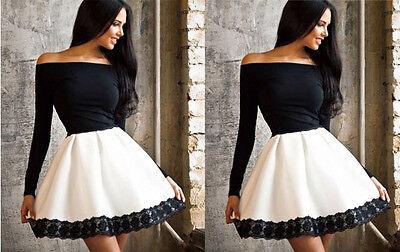 GK Abendkleid Cocktailkleid Minikleid Damen Kleid Sexy Langarm Sommerkleid