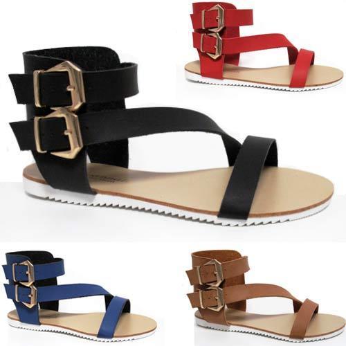 Mesdames sandales d/'été Femme à Lanière Gladiateur Marche fantaisie plage chaussures taille