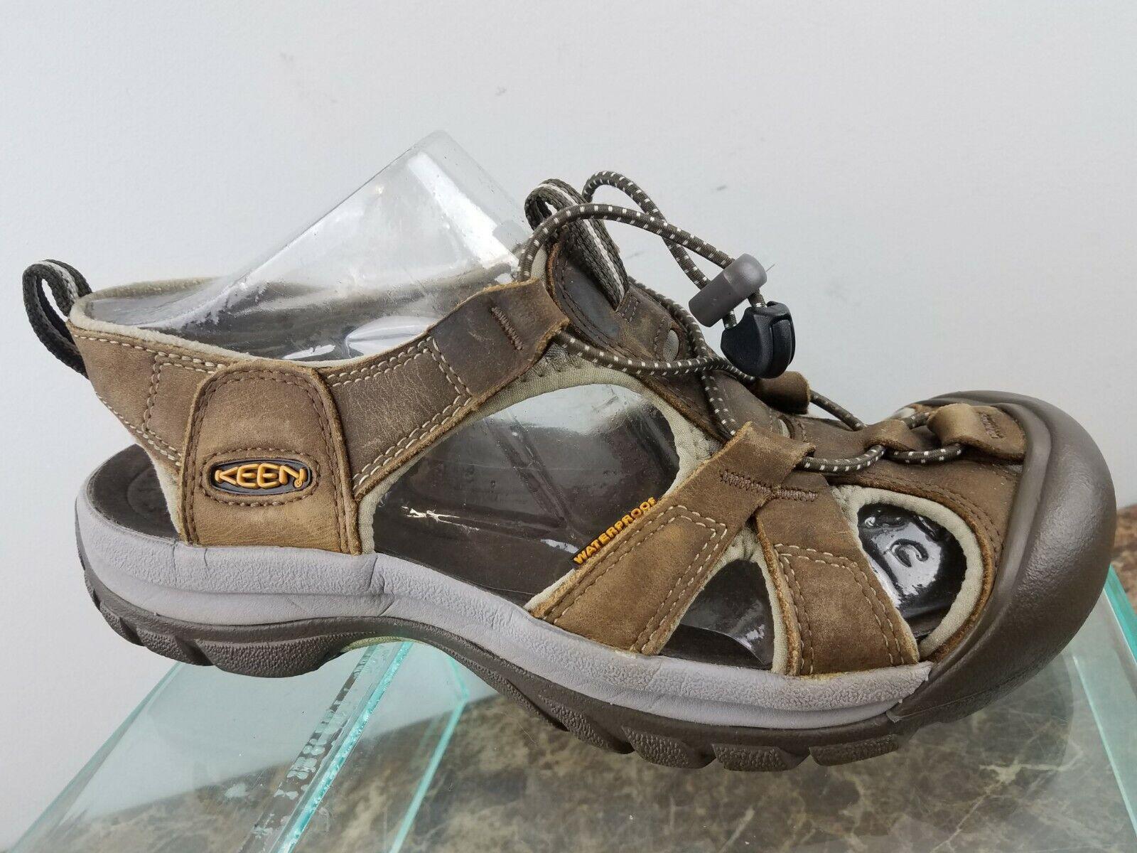 Keen Newport marron en cuir imperméable marche Fisherhomme Trail Sandales Femme 8