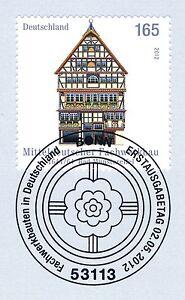 Rfa 2012: Fachwerkbau à Bad Münster Eifel Nº 2931 Avec Cachet De Bonn! 1a! 1601-afficher Le Titre D'origine