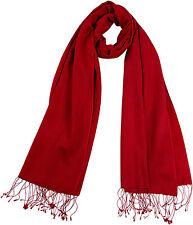 Pashmina Schal klassisches Rot Cashmere Seide silk scarf red 56 x 182 cm