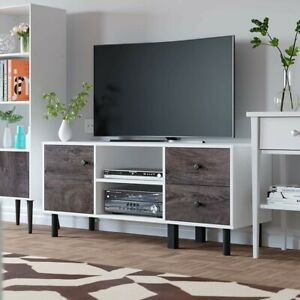 Industrial-TV-Stand-Cabinet-Unit-Rustic-Furniture-Media-Sideboard-Console-Table