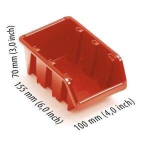 SET OF 50 PCS PLASTIC STORAGE BINS BOXES 70 x 155 x 100 mm 3 x 6 x